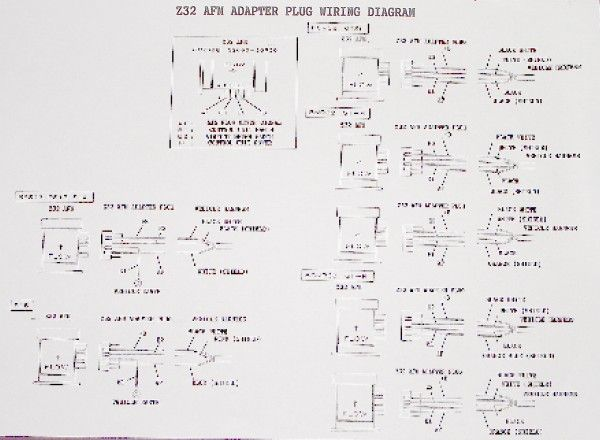 Z32 Wiring Diagram : Nissan z adapter plug afm air flow meter sx sr